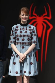 "Emma Stone in Erdem at the ""The Amazing Spider-Man 2: Rise Of Electro"" Berlin Photocall"