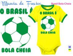 Brasil é o Bola Cheia no futebol mundial e vai mostrar isso na Copa do Mundo, em casa!  #body #kids #bebe #roupinha #bodysuit #camiseta #tshirt #selecaobrasileira #futebol #brasil #brazuca #fuleco #neymar #hexa #hexabrasil #campeao #championship #copadomundo #worldcup #footbal #fifa