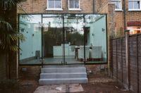 frameless glass extension