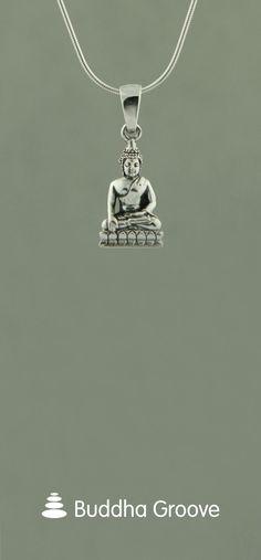Sterling Silver Buddha Pendant Buddha Jewelry, Zen, Pendants, Symbols, Sterling Silver, Clothing, Earrings, Gifts, Accessories