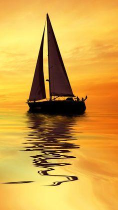 Sail boat iPhone 5s wallpaper