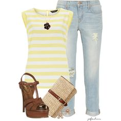 """T-Shirt & Jeans"" by jafashions on Polyvore"