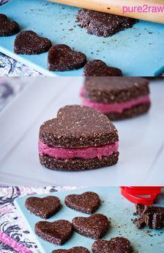 #Raw #GF Valentine Hearth Cookie Sandwich