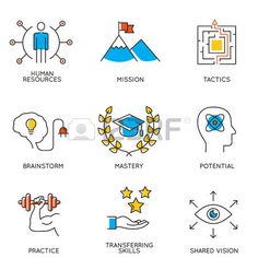 talent icon: Vector set of icons related to career progress and business…