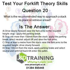 Forklift question of the day 20 from http://ift.tt/1HvuLik #forklift #training #safety #jobsearch