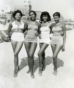 "Vintage Beach Beauties- Photo: ""Atlantic City, Four Women,"" circa 1960s by John W. Mosley. Credit: John W. Mosley, Curatorial Assistance"