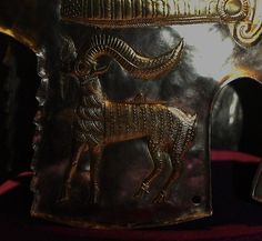 Ram detail on Dacian helmet