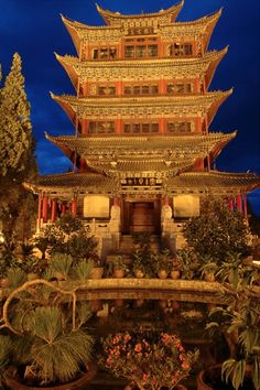 Pavilion at Lijiang, Yunnan, China Lijiang, Beautiful Sites, I Want To Travel, China Travel, Wonders Of The World, Places To See, The Good Place, Castle, Around The Worlds