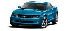 Aqua blue metallic camaro!! i just want white stripes