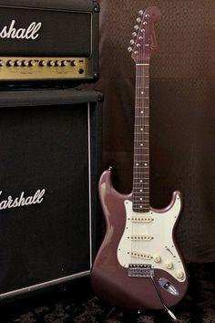 Fender Japan '62 Reissue Stratocaster ST62 MH Burgundy Mist TExES Special PU | eBay