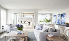 hamptons living room ideas slip cover sofa room styling hamptons The New way to Rock Hamptons Style: Room by Room Hamptons Living Room, Coastal Living Rooms, My Living Room, Home And Living, Living Room Decor, Living Area, Die Hamptons, Hamptons Style Decor, Style At Home