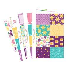 Tangled Full Kit   Erin Condren Planner Stickers