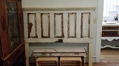 Check out this item in my Etsy shop https://www.etsy.com/listing/249514967/antique-headboard-made-from-an-old-door