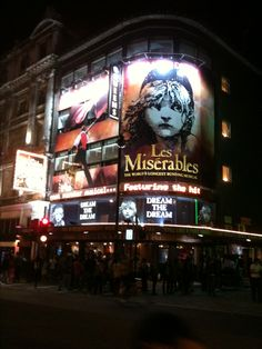 Les Miserables Live in London's West End Theater District