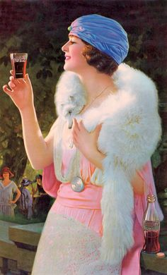 I used to have this gorgeous 1920s era Coca Cola ad in a frame.  Wish I still…