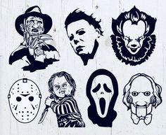 Horror Movie Tattoos, Horror Movie Characters, Halloween Horror Movies, Scary Movies, Horror Drawing, Horror Art, Chucky, Jason Maske, Dallas Cowboys Logo
