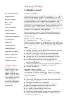 supply chain resume templates logistics manager resume 1 2 page version logistics manager supply chain manager cover letter