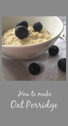 This is a very simple recipe to make a delicious bowl of oatmeal porridge. via @https://uk.pinterest.com/endofthefork