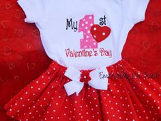 Valentine's Day  Baby Personalized Baby's by EmbroiderybySharon, $28.00