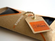 Eco packaging design for iphone cases