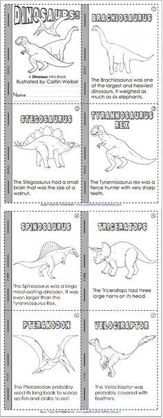Learn about dinosaurs and practice reading skills!