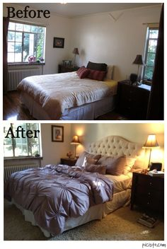 My dramatic bedroom makeover for a single woman client...minimal cost to create a supportive, inviting bedroom to invite partnership.  www.fengshui4theom.com