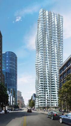 Twisting San Francisco Skyscraper in San Francisco, California, USA, 122 m (project).