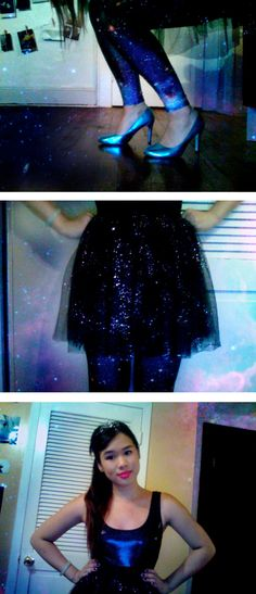 i'm a space princess >:] #space #galaxy #princess #tiara