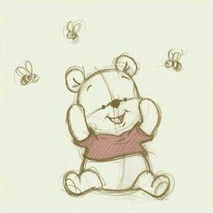 Pooh bear drawing