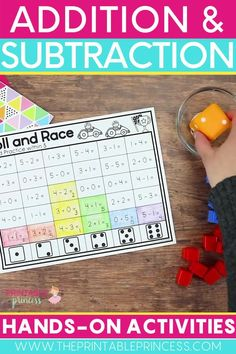 This engaging, easy prep addition and subtraction bundle is the perfect complement to your kindergarten math curriculum while targeting Common Core State Standards with the use of manipulatives, games, activity mats, and worksheets.