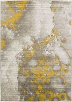 With its abstract water spot pattern and lush, neutral color options, this Surya Jax Area Rug is as much modern art as rug. Home Design, Modern Design, Modern Decor, Design Ideas, Interior Design, Clearance Rugs, Gold Rug, Yellow Area Rugs, Contemporary Area Rugs