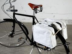 Do Laptop Bag- New from Save the C in Finland: clever bicycle bags made from reclaimed sails, for the eco-conscious cyclist. Scandinavian Cottage, Bicycle Bag, Cargo Bike, World's Most Beautiful, Cycling Bikes, Fathers Day Gifts, Bag Making, Sailing, Recycling