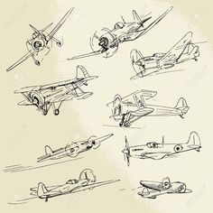 War Plane Stock Vector Illustration And Royalty Free War Plane Clipart Airplane Sketch, Airplane Drawing, Airplane Art, Illustration Avion, Airplane Illustration, Drawing Sketches, Drawings, Sketching, Airplane Tattoos