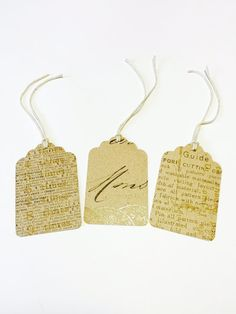 16 Brown Printed Gift Tags by Vikster on Etsy