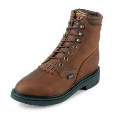 Justin Men's Aged Bark Lace Up Work Boot
