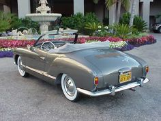 Image may have been reduced in size. Click image to view fullscreen. Karmann Ghia Convertible, Vw Beetle Convertible, Achtung Baby, Volkswagen Karmann Ghia, Car Accessories For Girls, Cabriolet, Vw Cars, Chevy Pickups, Vw Beetles
