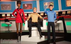 This year marks the 50thanniversary of theStar Trekfranchise, and to commemorate the occasion, CBS has teamed up with Mattel to create an exclusive line of Kirk, Spock, and Uhura dolls from the Barbie collection. Capturing the spirit of the original series – an era which this summer's Star Trek Beyondwill revisit – the dolls feature the old-schoolFederation attire, complete with the Starfleet insignia and the pop art color scheme.