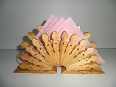 napkin holder made from pegs :)