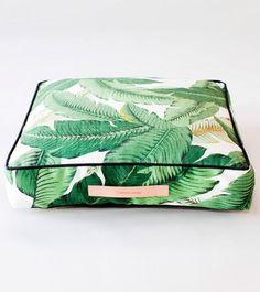 Martinique, Banana leaf, palm, Beverly Hills Hotel, Classic California wallpaper print, , Tahiti Square Floor Pillow