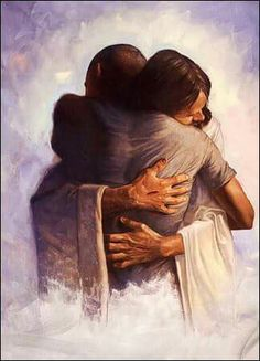 In the arms of Jesus