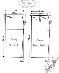 Střih - sukně (návod vel.42)