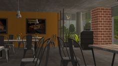 JodelieJodelie's Sims Stuff - Le Magnifique! International Restaurant. A joke...