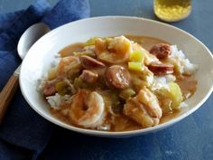 This hearty Surf and Turf Gumbo is full of shrimp, chicken and andouille sausage.
