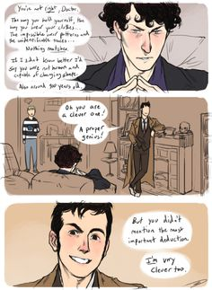 This is by far one of the BEST Sherlock/Doctor Who crossovers I've seen! They look just like them!