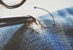 Destroyed Jeans selber machen: Anleitung Schritt 6