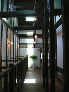 古民家  北国街道の宿 紗蔵 二階廊下