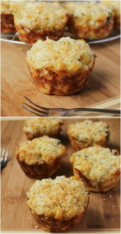 I love these Mac and Cheese Broccoli Cups. It's like the perfect side portion of your macaroni and cheese, or you can make them into a meal, and they're..