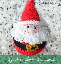 Crochet Santa Ornament ~ Free Amigurumi Pattern