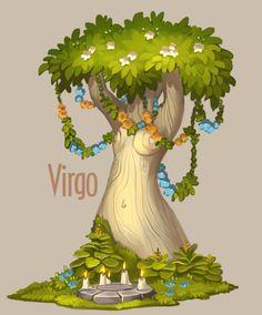 Amazing trees - Zodiac by Alexandra Semushina on ArtStation.