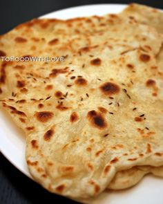 easy flat bread - flour / salt / butter / milk